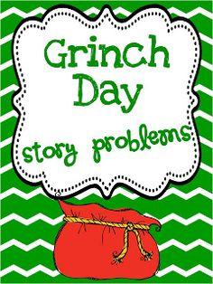 Classroom Freebies: Grinch Day Math