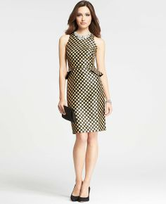 2013 Holiday Dress? - Ann Taylor Peplum Dot Jacquard Dress