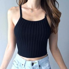 One of our best sellers, the Chloe Crop Top features our softest ribbed material, so soft yet so stretchy! Conforms to your body in the most comfy way, and perf