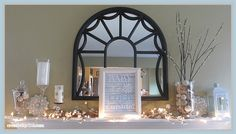 Winter Mantel with Baby It's Cold Outside printable sign - www.creativity52.com