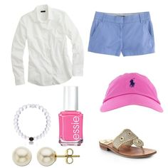 Summer prep  by lillypulitzera on Polyvore featuring polyvore, fashion, style, J.Crew, Jack Rogers, Lord & Taylor, Everest and Essie