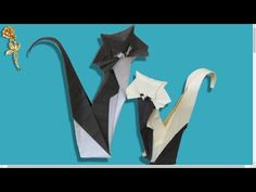 Origami : Chat - YouTube