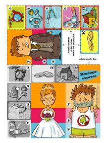 Het bruiloftsspel, free download / Découpage Jeu du Mariage pour enfants