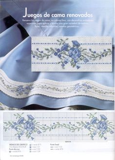 Two hand stitched pillowcases. Lovely wedding gift from the heart. Cross Stitch Pillow, Just Cross Stitch, Cross Stitch Borders, Cross Stitch Flowers, Counted Cross Stitch Patterns, Cross Stitch Charts, Cross Stitch Designs, Cross Stitching, Cross Stitch Embroidery