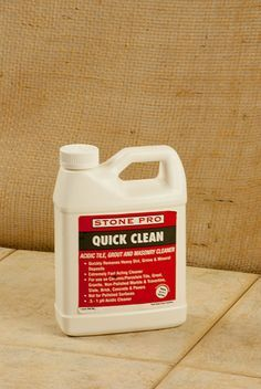 Quick Clean is a highly concentrated tile and grout cleaner designed to remove stubborn dirt, grime, grease and soil from tile and grout. Quick Clean is the no-nonsense solution to your heavy tile and