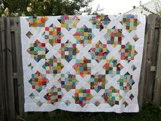 Sew Hungry: Scrappysaurus quilt top is done