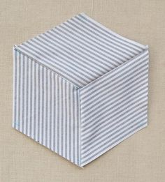 Striped Tumbling Blocks Quilt- How Tos 600-42