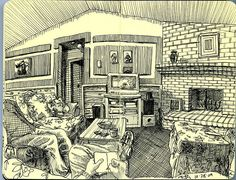 Paul Heaston, Definitely on the to do list of using just a fine liner to complete an interior of a house
