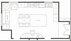 L kitchen layout kitchen design template layout design l kitchen with island kitchen cabinet layout planner Plans Loft, Loft Floor Plans, Loft Plan, Small House Floor Plans, Kitchen Floor Plans, Home Design, Design Café, Plan Design, Custom Design