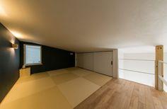 Narrow House, Home Interior Design, Tile Floor, Bedroom Decor, Kitchen Cabinets, Loft, Architecture, House Roof, Home Decor