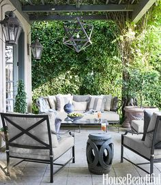 Outdoors Mary McDonald House - Neutral Decor Ideas - House Beautiful