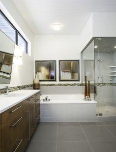 Luxury modern bathroom designed by Lisman Studio interior design.