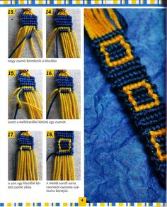 In a different language but sooo cool Macrame Bracelet Patterns, Macrame Bracelet Tutorial, Macrame Patterns, Macrame Jewelry, Fabric Jewelry, Bracelet Designs, Thread Bracelets, Bead Loom Bracelets, Bracelet Crafts
