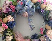Springtime Wreath by RoseAntiqueBoutique on Etsy, $89.99 USD SOLD