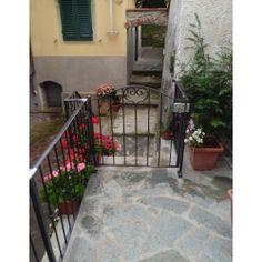 Wrought Iron Pedestrian Gate. Customize Realisations. 046 Pedestrian, Wrought Iron, Gate, Applique, Deck, Outdoor Decor, Design, Houses, Portal