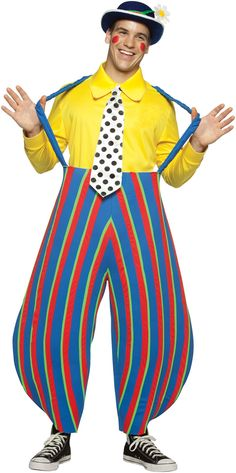 DEJI OR SEAN ON STILTSStripey the Clown Adult Circus Costume