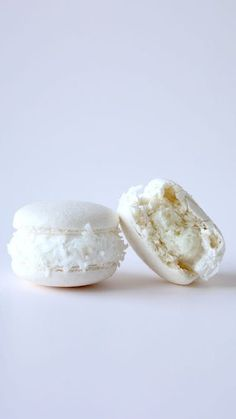Coconut macarons with a sweet surprise center will be all you'll want for Christmas.