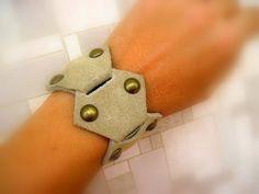 Leather Bracelet Leather Cuff  Leather Wristband by CraftyMosaic, $15.00