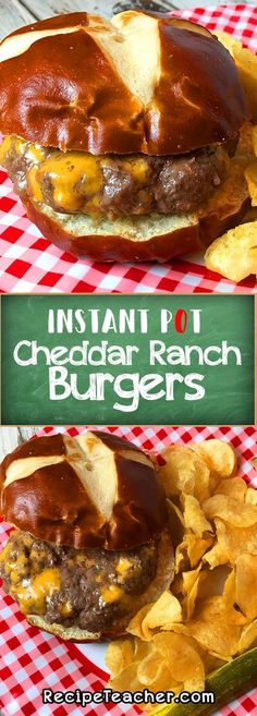 Pot Cheddar Ranch Burgers Cheddar Ranch burgers in your Instant Pot. You won't believe how good they are. No mess to cleanup!Cheddar Ranch burgers in your Instant Pot. You won't believe how good they are. No mess to cleanup! Instant Cooker, Instant Pot Pressure Cooker, Pressure Cooker Recipes, Pressure Cooking, Slow Cooker, Potted Meat Recipe, Ranch Burgers, Crockpot Recipes, Cooking Recipes