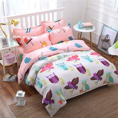 2016 new style fashion style queen/full/twin size bed linen set bedding set sale bedclothes duvet cover bed sheet pillowcases Cheap Bedding Sets, Queen Bedding Sets, Luxury Bedding Sets, Owl Bedding, White Bedding, Linen Bedding, Bed Linens, King Size Bed Linen, Bed Linen Sets