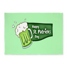 Happy St. Patricks Day Beer Color 5'x7'Area Rug