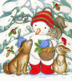 """""""Sparkle Snowman"""" illustrated by Lucinda McQueen"""
