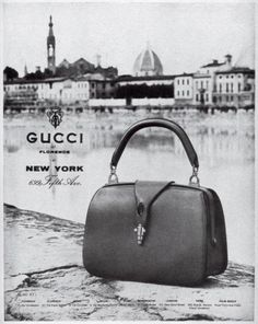 ff53ebe8a098 Advertising for the New York gucci flagship shop - 1950s 1950s bags Chanel  Handbags, Gucci