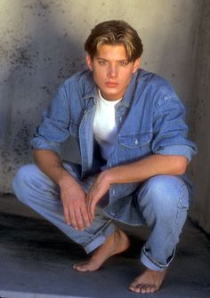 """Pin for Later: 17 Pictures of Jensen Ackles Staring Into Your Soul, Just in Time For Valentine's Day This """"All Denim All the Time"""" Stare"""