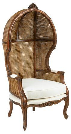 Porter Canopy Chair, Walnut