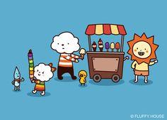 Rainbow Ice-cream!!
