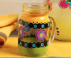 Craft Painting - Day of the Dead Margarita Glass - love this #DIY #diadelosmuertos #margarita
