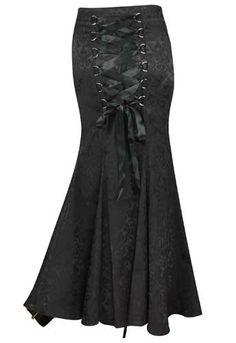 Jacquard Gothic Long Fishtail Skirt Save 37% at Chicstar.com Coupon: AMBER37