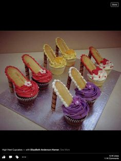 Dress shoe cup cakes
