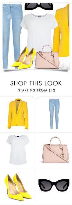 """""""Today's style"""" by andreastoessel ❤ liked on Polyvore featuring Ralph Lauren Collection, 7 For All Mankind, Michael Kors, Gianvito Rossi and Karen Walker"""