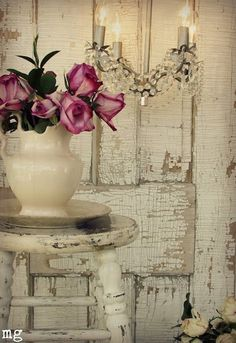 Vintage Shabby Chic look…..