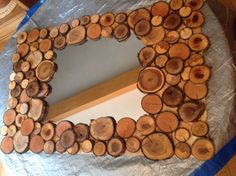 Surround a Boring Mirror with Wood Slices