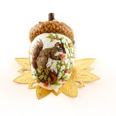 OOAK Janie Comito  ~ Huckleberry  Time ~ Squirrel Acorn ~ created 2015