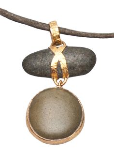 Lou Zeldis Pebble Necklace - Church - farfetch.com