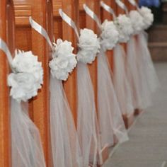 Diy decorate church pews with tulle for a wedding pinterest diy decorate church pews with tulle for a wedding junglespirit Choice Image