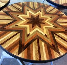 """She Makes Quilt Inspired Tables Out Of Salvaged Wood """"Madebywoodhand"""""""