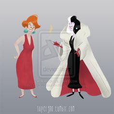 Madame Medusa and Cruella