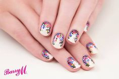 'Ditzy Floral' print nails for @barrymcosmetics by Sophie...