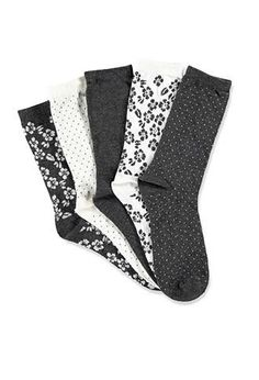 Mixed Floral Crew Socks Pack from Forever 21. #socks. Shop more products from Forever 21 on Wanelo.