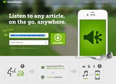 SoundGecko. Afree new Web app that converts just about any written text to speech.