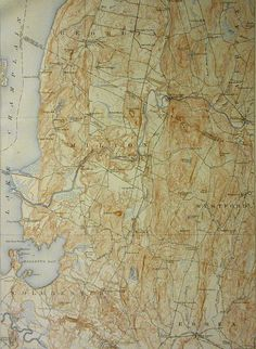 Southern Appalachians Mountains Antique Map Eastern Seaboard - Georgia vt map