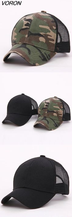 [Visit to Buy] VORON 2017 New Blank mesh camo Snapback Hats camouflage hip hop mens women Casquettes bboy gorras bones baseball caps solid hat #Advertisement