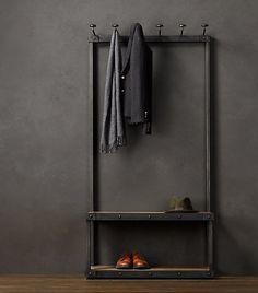 Amerikaanse ijzeren buizen doen de oude retro kapstok kapstok hangers huanxie kleding-display rek