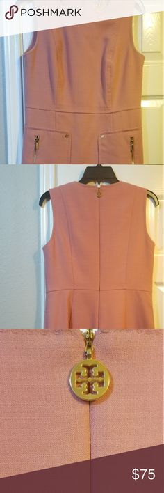 13f7f15ab3e4 Shop Women s Tory Burch Pink size 6 Midi at a discounted price at Poshmark.  Description  Salmon color Tory Burch dress with front pockets.