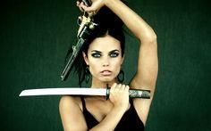 Women - women & guns Wallpaper