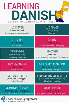 Learning Danish: Colourful Language with Arse. Speak Danish, Danish Words, Lappland, Danish Language Learning, Denmark Food, Danish Christmas, Copenhagen Denmark, Future Travel, Idioms